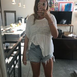 Flowy free people top